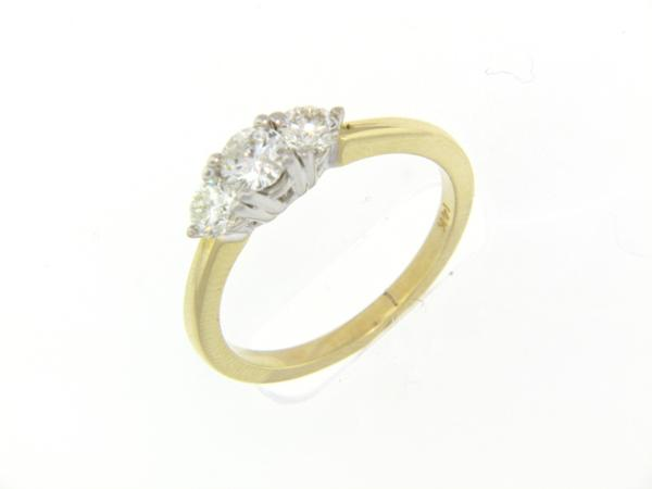 View 3-Stone Ring 14K2T 0.75ct