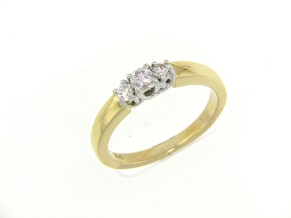 View 3-Stone Ring 14K2T 0.25ct
