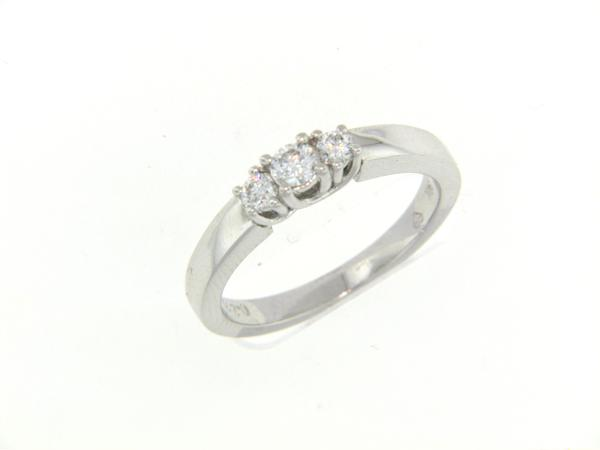 View 3-Stone Ring 14KW 0.25ct
