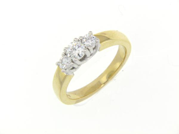 View 3-Stone Ring 14K2T 0.51ct