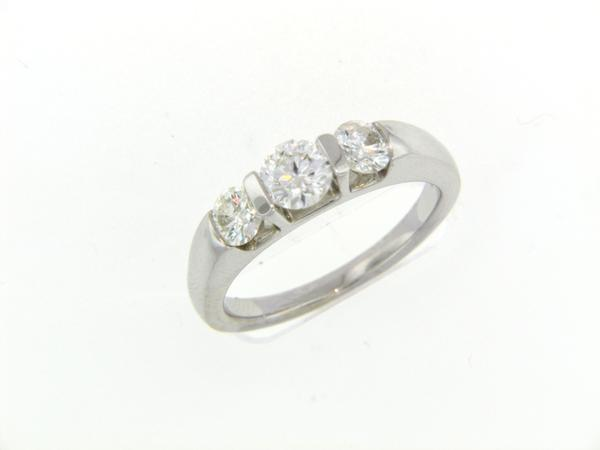 View 3-Stone Ring 14KW 1.00ct