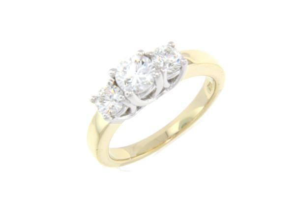View 3-Stone Ring 14K2T 1.25ct