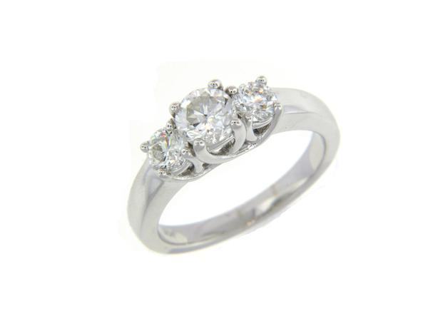 View 3-Stone Ring 14KW 1.26ct
