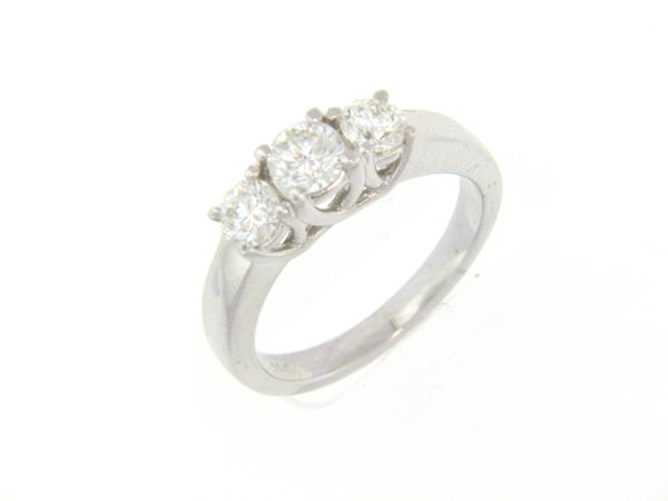 View 3-Stone Ring 14KW 1.01ct